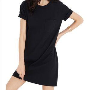Madewell Black Pocket Tee Dress
